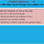 Unseen Passage No.1
