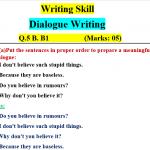 dialogue Writing Skill